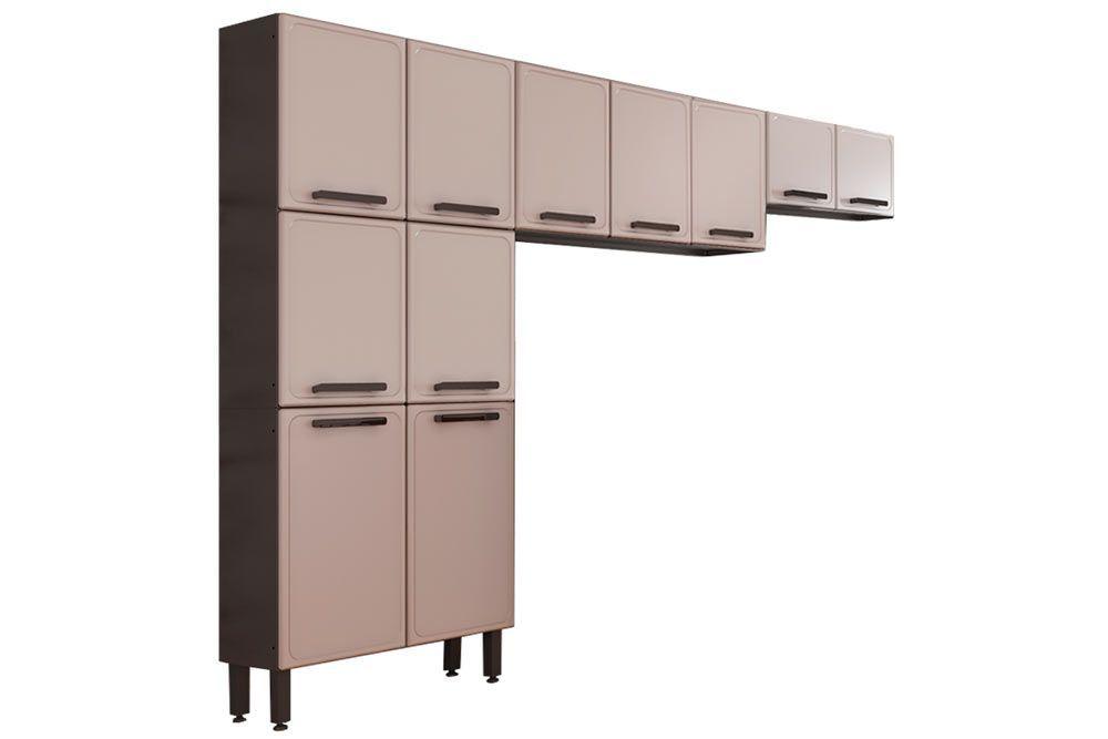 Cozinha Compacta Modulada Bertolini Estilo 3 Peças (Paneleiro+2 Armários)