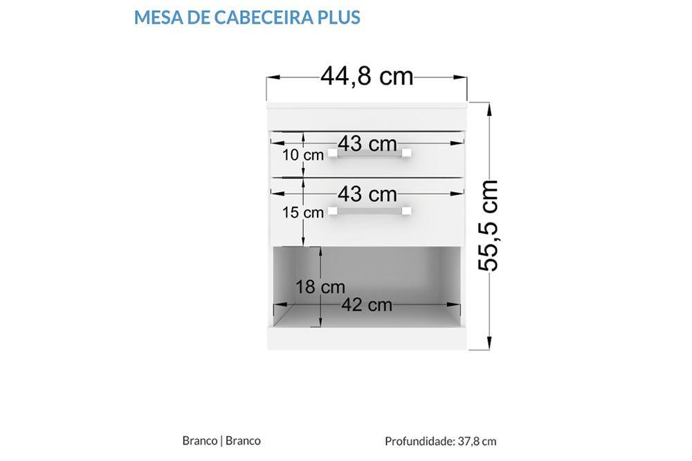 Conjunto de Quarto Santos Andirá Havana QS82 (Cômoda Sapateira + 2 Mesas de Cabeceira)