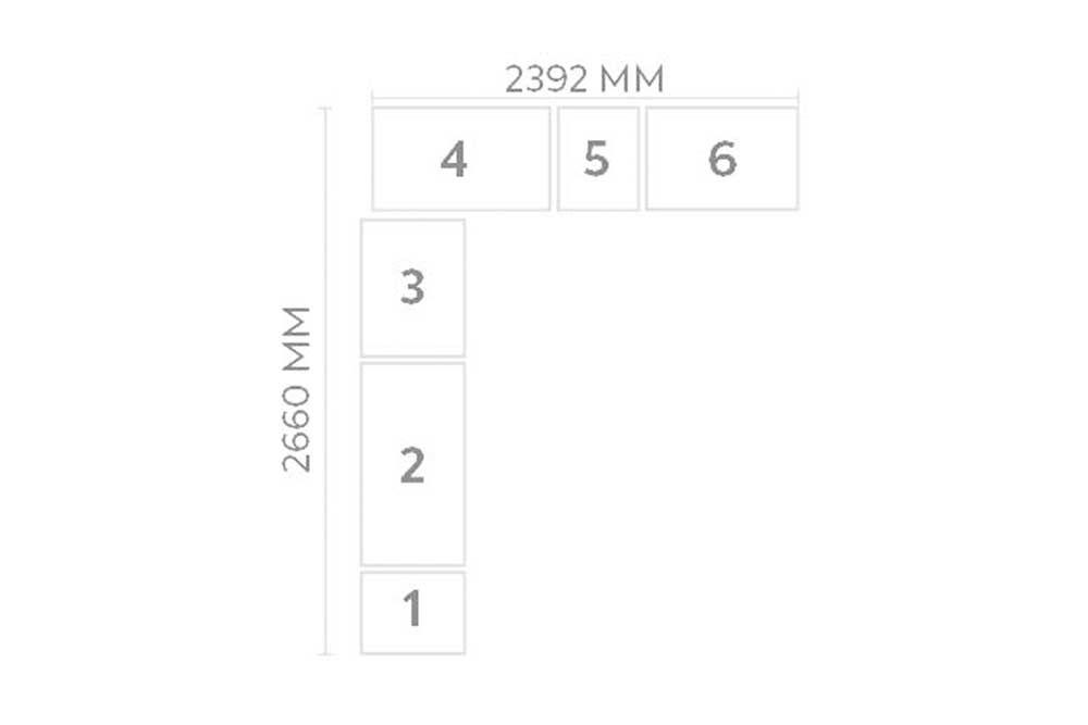 Quarto de Solteiro Modulado Novo Horizonte Bari 6 Peças QSM01