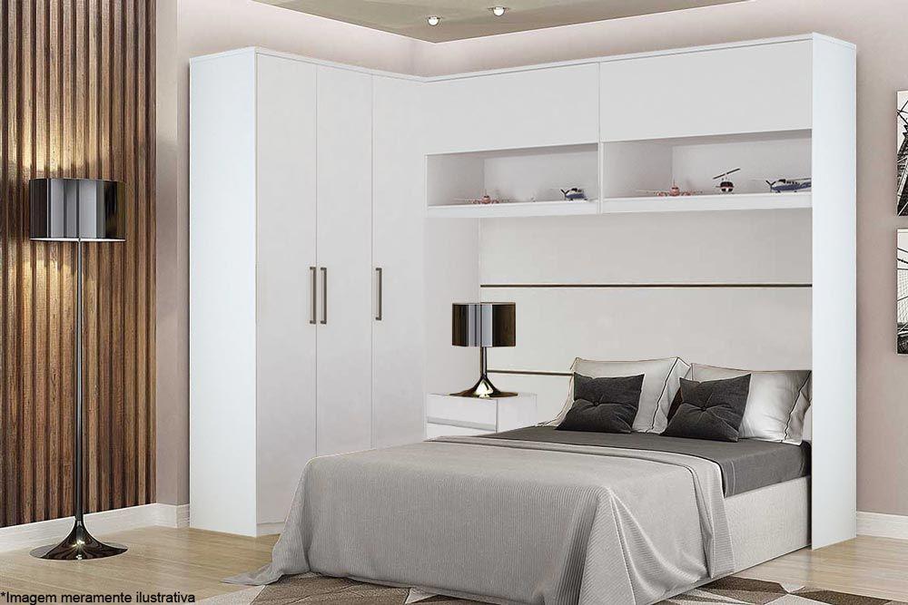 Quarto de Casal Modulado Novo Horizonte Bari 3 Peças QCM01