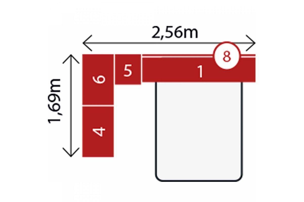 Quarto Completo Modulado Demóbile Módena II Casal 5 Peças