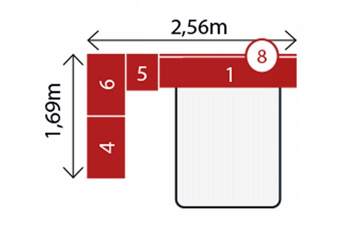 Quarto Completo Modulado Demóbile Módena III Casal 5 Peças