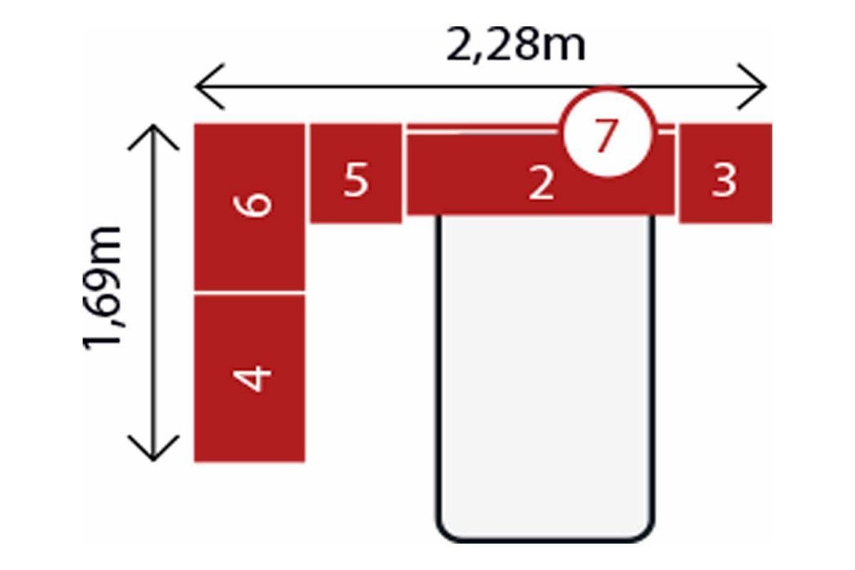 Quarto Completo Modulado Solteiro Demóbile Módena VII 6 Peças