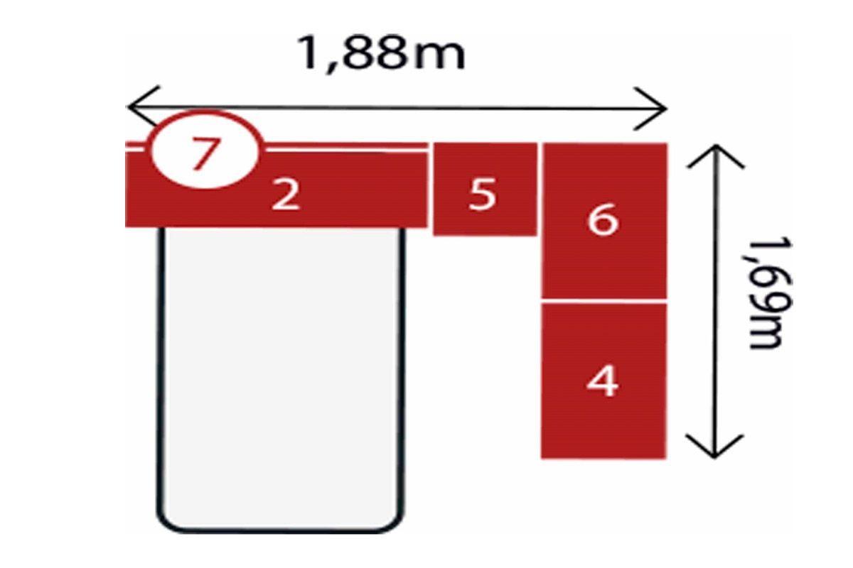 Quarto Completo Modulado Solteiro Demóbile Módena VIII 5 Peças