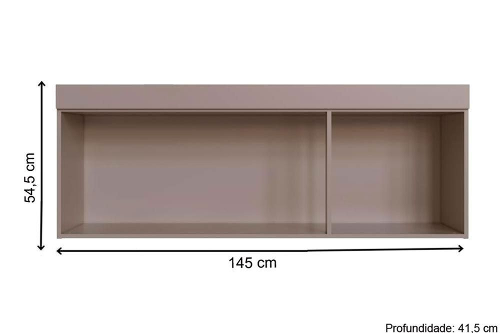 Quarto de Casal Modulado Genialflex Flórida c/ 11 Peças QMC01