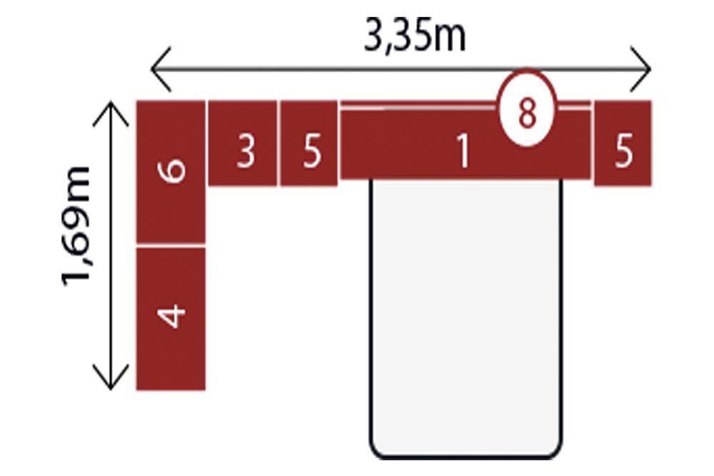 Guarda Roupa Modulado Demóbile Módena IX Casal 6 Peças (Composição 02)