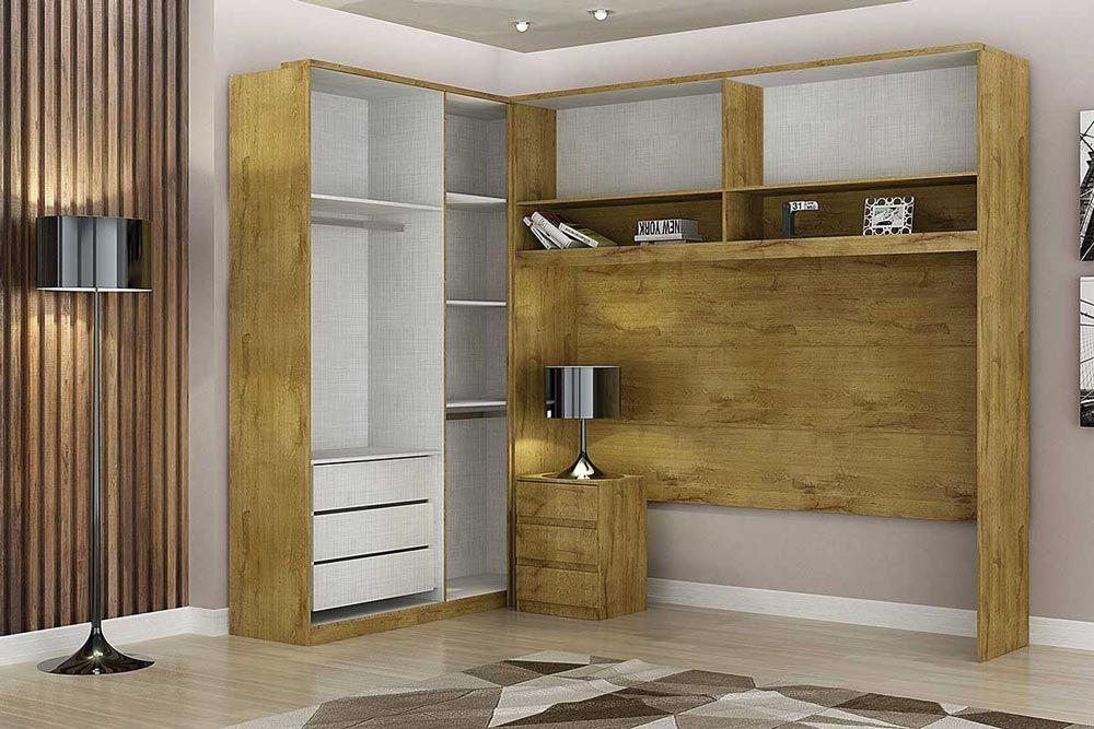 Dormitório Modulado Casal Completo Novo Horizonte Bari 3 Peças QCM04