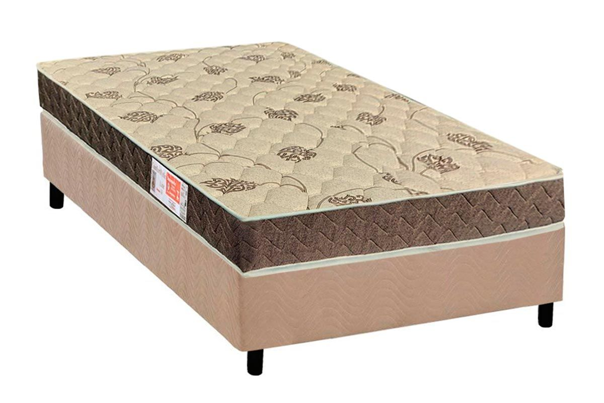 Conjunto Box - Colchão Orthoflex de Espuma D33 Comfortpedic Line Selado INMETRO + Cama Box Universal CRC Camurça Clean