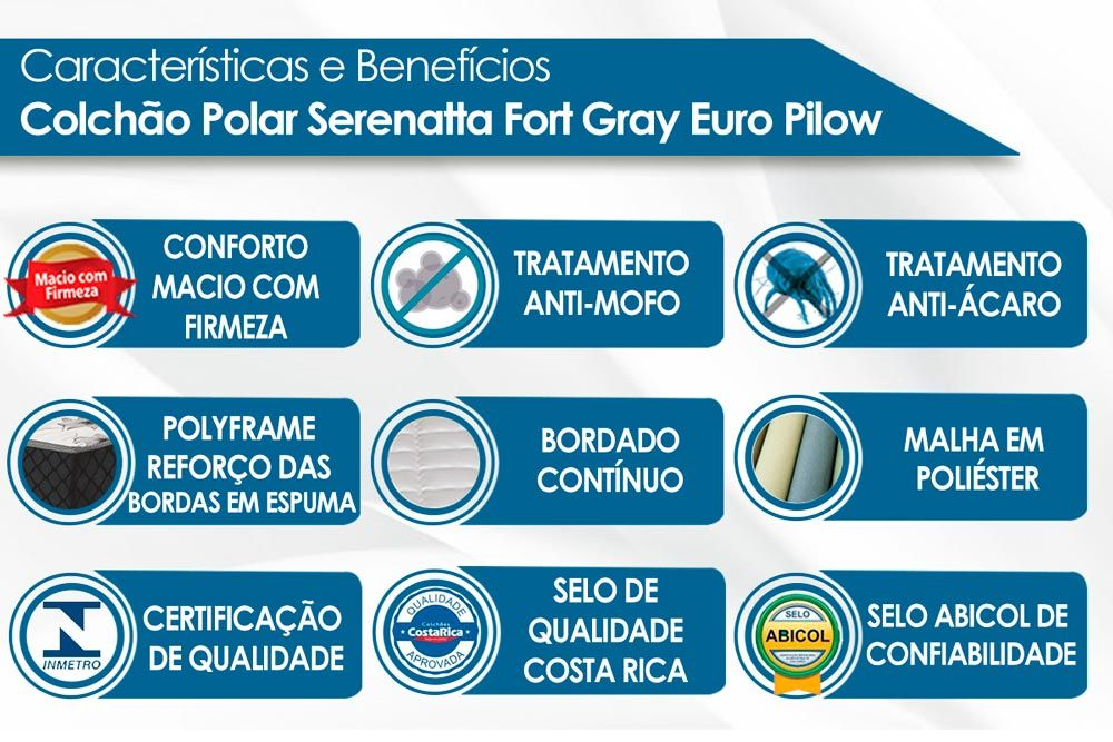 Conjunto 3x1 - Cama Box + Auxiliar + Colchão Polar Molas Pocket Serenatta Gray