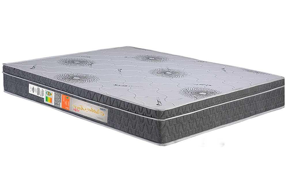 Conjunto Baú - Colchão Polar Ortopédico Orthoface Vip Gray + Cama Box Baú Universal CRC Camurça Grey