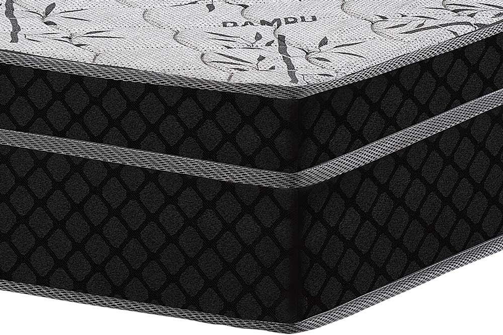 Conjunto - Cama Box + Colchão Polar Espuma D45 Pérola Black 024