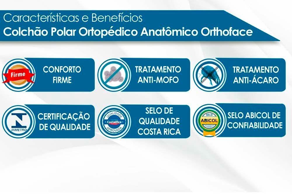 Conjunto Cama Box + Colchão Polar Espuma Orthopédica Orthoface Black 019
