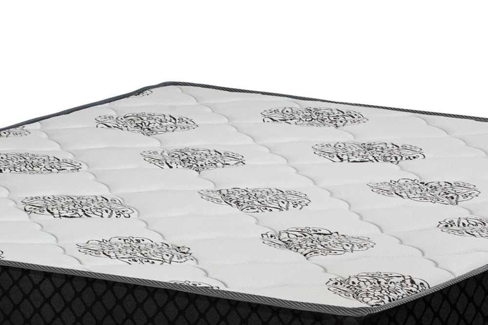 Conjunto Bicama Box - Colchão Polar de Molas Superlastic Gold Safira Black+Cama Box Universal Nobuck Nero Black