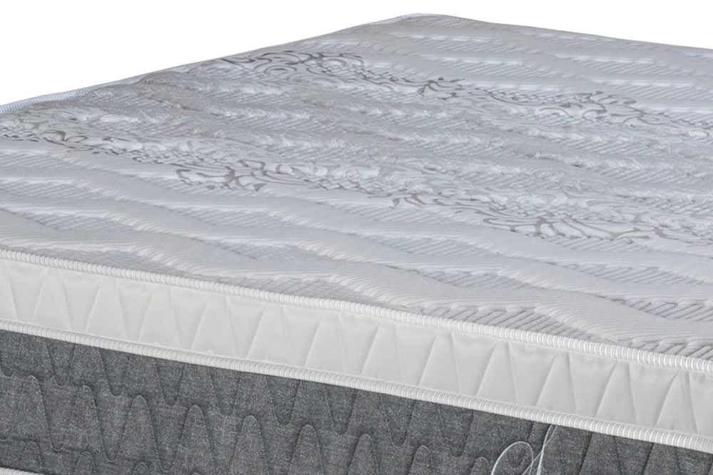 Conjunto - Cama Box Baú + Colchão Polar Molas Pocket Serenatta Cinza 034