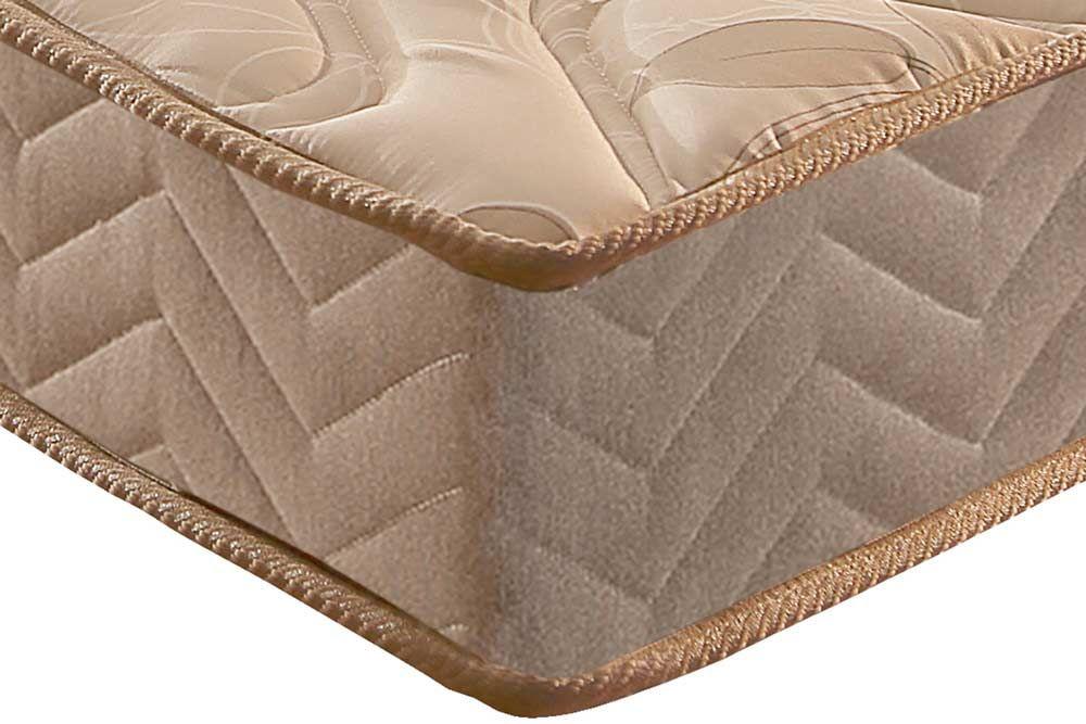 Conjunto Baú - Colchão Paropas Espuma D33 Pasquale 025 + Cama Box Baú Universal CRC Camurça Clean