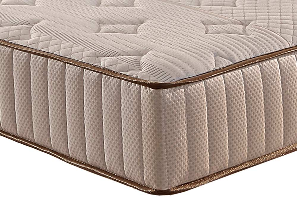 Conjunto Cama Box Universal + Colchão Paropas Espuma Látex D45 Premium Malha Belga Rosê