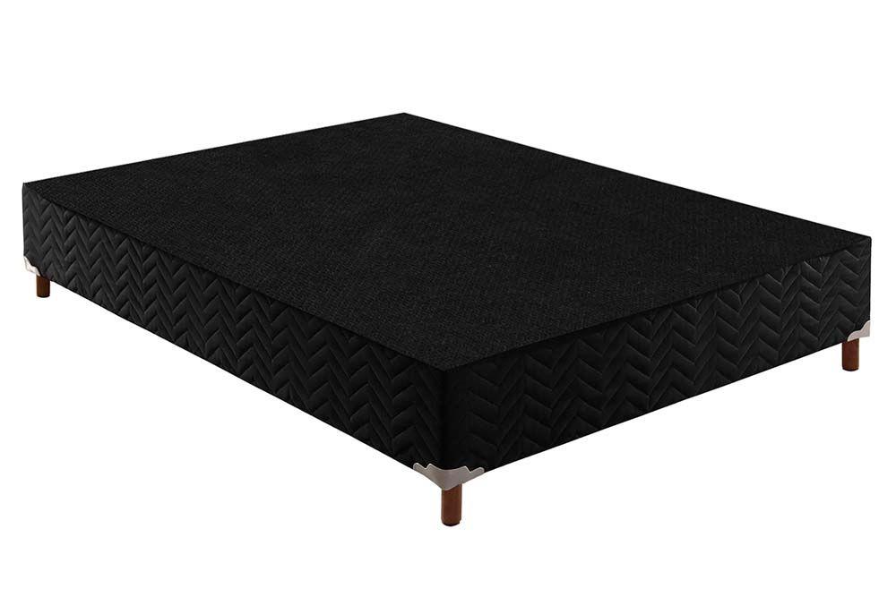 Conjunto Cama Box Universal + Colchão Paropas Espuma D45 Ortopédica Confort Mega Firme Black 025
