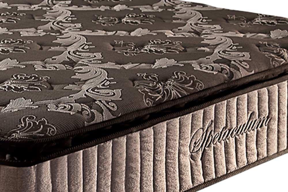 Conjunto Baú - Colchão Paropas Molas Pocket Espetaculum Black + Cama Box Baú Universal CRC Camurça Black