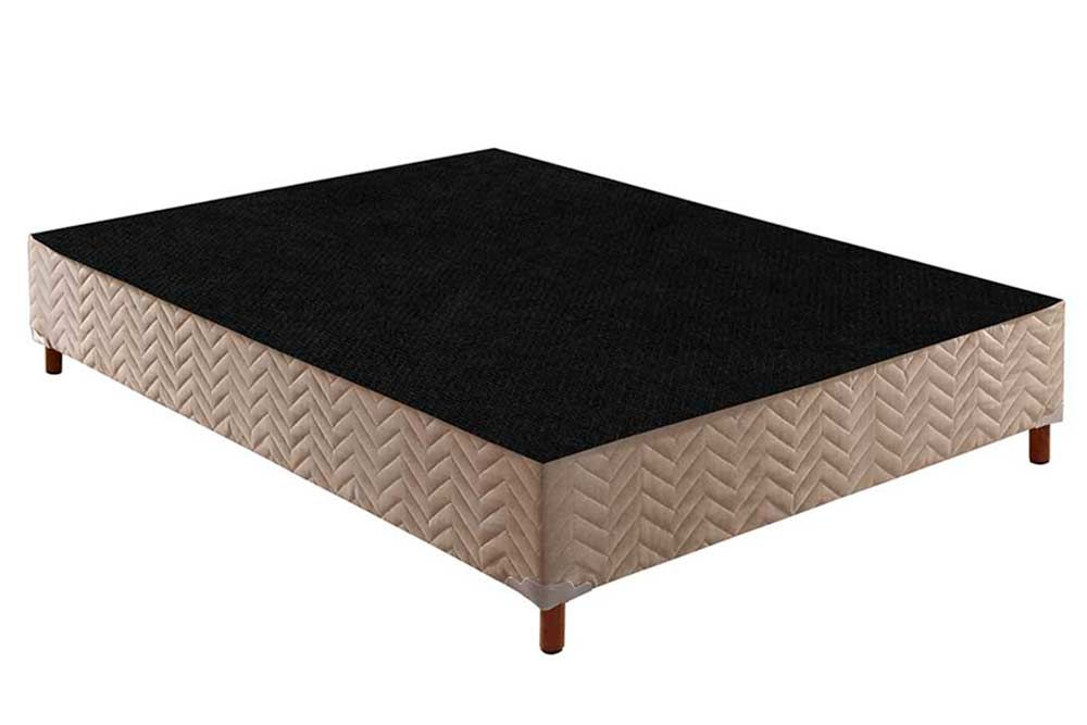 Conjunto Cama Box Universal + Colchão Paropas de Molas Extrapedic AG D80 Sleeping Clean