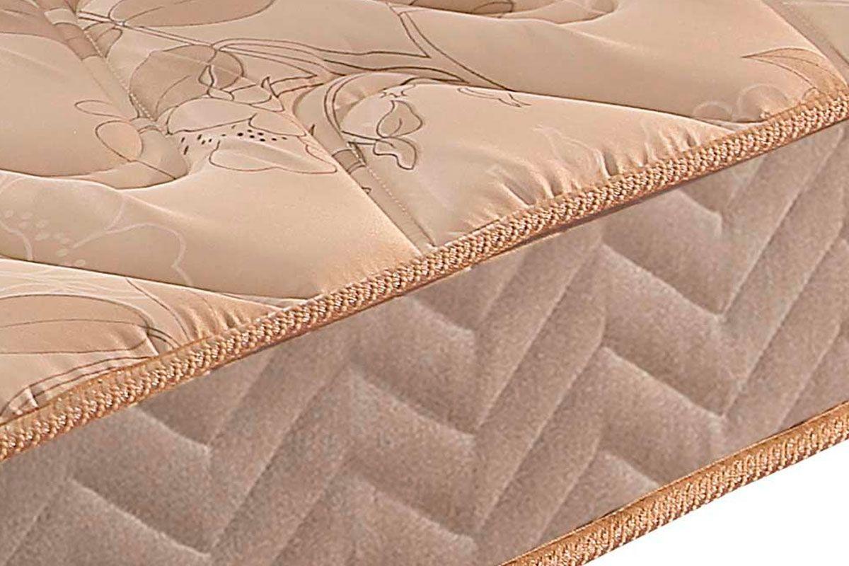 Conjunto Cama Box- Colchão Paropas Espuma D33 Pasquale Clean+Cama Box Universal Camurça Clean