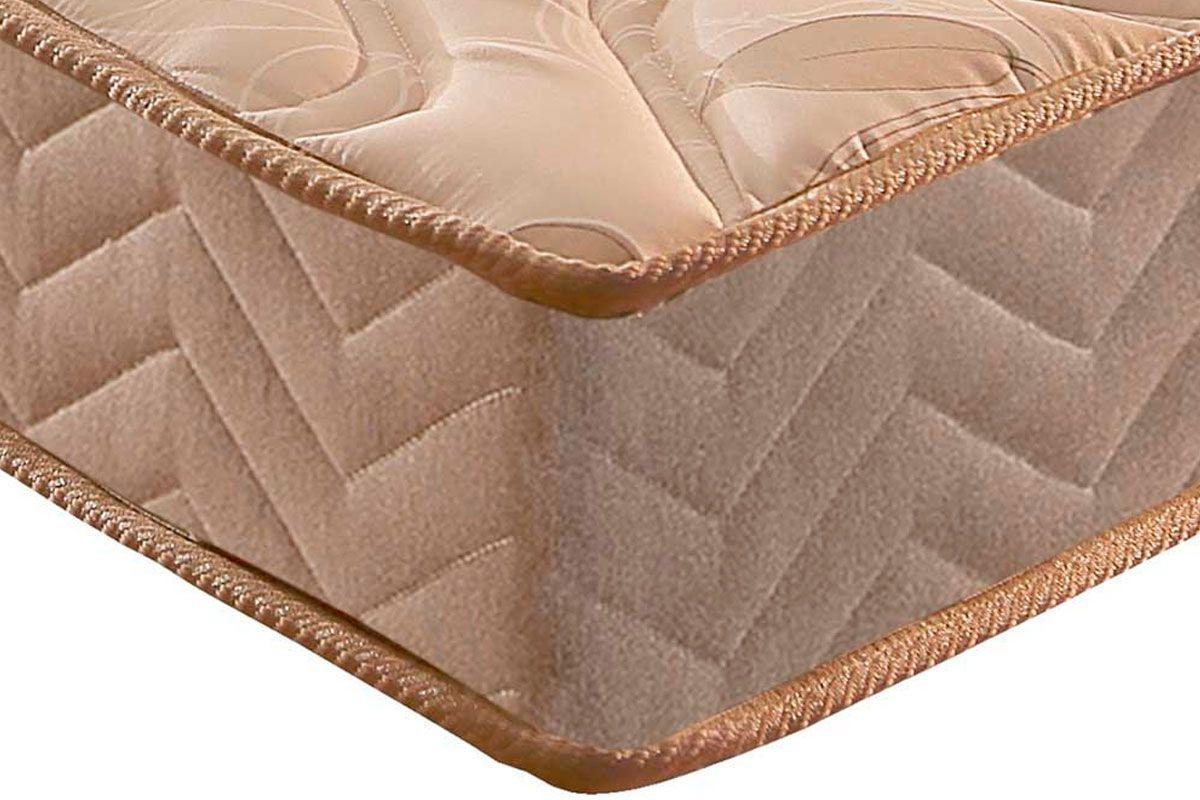 Conjunto Cama Box -Colchão Paropas Espuma D33 Pasquale Clean + Cama Box Universal Camurça Clean