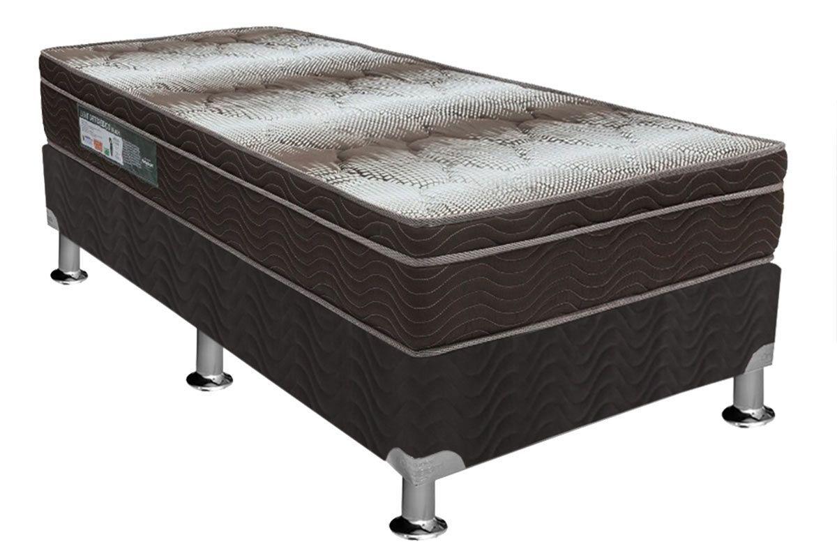 Conjunto Box - Colchão Ortobom Light OrtoPillow + Cama Box Universal CRC Courino Black