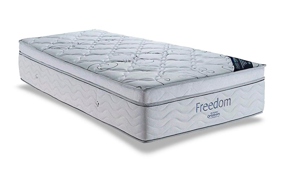 Colchão Ortobom de Molas Pocket Freedom Pillow Top Viscoelástico