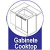 Gabinete (Balcão) de Cozinha Itatiaia Dandara IGH1G1-80 5B Aço c/ 1 Porta e 1 Gaveta p/ Fogão Cooktop 5 Bocas 80cm - Gabinete Cooktop