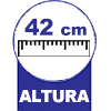 Com 42 cm Altura