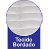 Colchão Luckspuma de Molas Pocket  Platinum New  Pillow Top One Side - Tecido Bordado