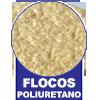 Flocos de Espuma de Poliuretano