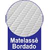 Protetor de Colchão Fibrasca Pele de Pêssego Impermeável - Matelassê Bordado