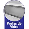 Armário de Cozinha Itatiaia Aéreo de Geladeira Premium IPG2-80 Aço c/ 2 Portas 80cm - Portas de Vidro
