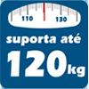 Suporta até 120 kg