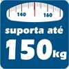 Cama Box Baú Ortobom Courino Nero Black - Suporta até 150 kg