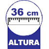 Com 36 cm Altura
