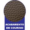 Cama Box Baú Base Ortobom Courino Nero Black  s/ Auxiliar (Obrigatória a compra Cama Box + Auxiliar) - Acabamento em Couríno