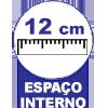 Cama Box Baú Base Ortobom Courino Nero Black  s/ Auxiliar (Obrigatória a compra Cama Box + Auxiliar) - Profundidade Interna de 12 cm