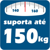 Cama Box Baú Base Ortobom Courino Nero Black  s/ Auxiliar (Obrigatória a compra Cama Box + Auxiliar) - Suporta até 150 kg