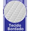 Colchão Auxiliar Ortobom de Espuma D28 Cori Nero Black  (Uso Exclusivo Camas Específicas Ortobom ) - Bordado de Alta Qualidade