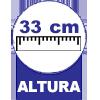 33 centímetros de altura