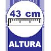 43 centímetros de altura
