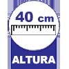 Com 40 cm Altura