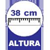Com 38 cm Altura