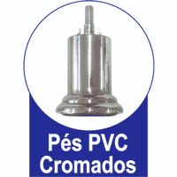Pés Fixos PVC Cromado