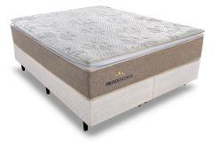 Colchão Sealy/Plumatex de Molas Pocket Presidencially Viscoelástico Euro Pillow - Colchão Casal - 1,38x1,88x0,34 - Sem Cama Box