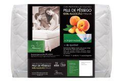 Protetor de Colchão Fibrasca Pele de Pêssego Impermeável - Casal  -  1,40 x 1,90