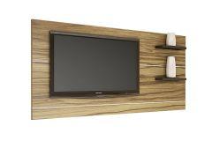 Painel p/ Rack Valdemóveis Eletronic p/ até TV 42 - Cor Branco com Preto
