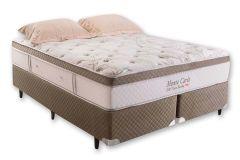 Colchão Herval de Molas Pocket Monte Carlo Visco HR  Pillow Top - Colchão Casal - 1,38x1,88x0,33 - Sem Cama Box