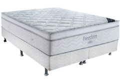 Conjunto Box - Colchão Ortobom de Molas Pocket Freedom + Cama Box Universal Couríno White -